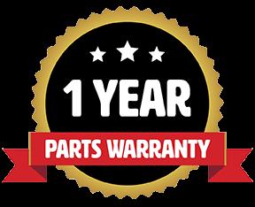 1 Year Parts Warranty