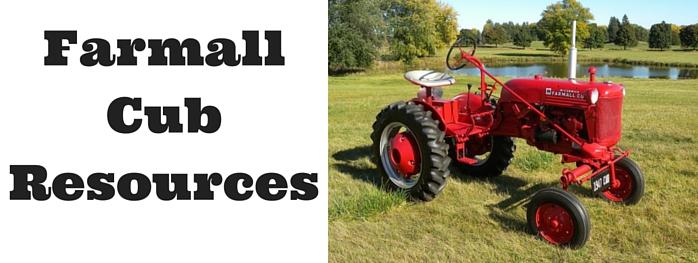 Farmall Cub Resources