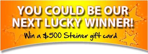 $500 Steiner Gift Card Winner